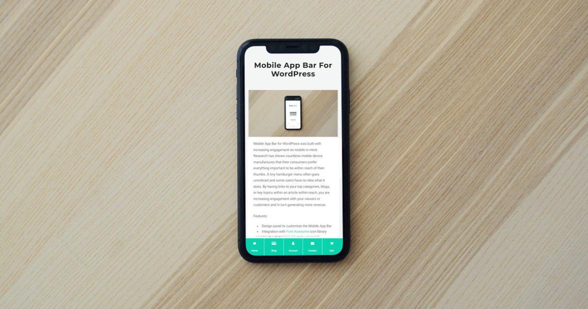 Mobile App Bar
