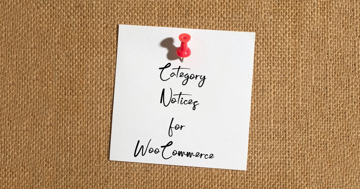 Category Notices for WooCommerce